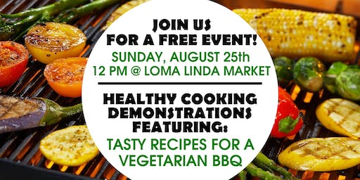 Inland Empire Wellness Free Vegetarian Cooking Demonstrations