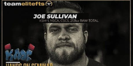 Joe Sullivan seminar in KAOS  tickets