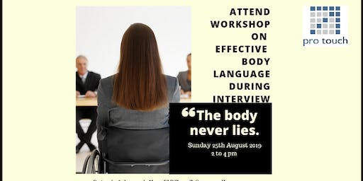 """Workshop on """"Effective Body Language During Interview"""""""