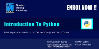 INTRODUCTION TO PYTHON IN JAKARTA