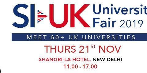 Don't forget to Attend India's biggest UK Education Fair in Delhi. Free Entry Register Now
