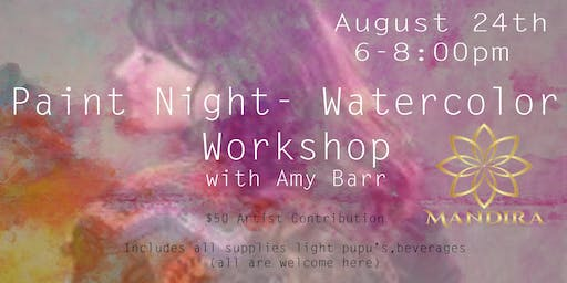 Paint Night - Watercolor workshop with Amy Barr