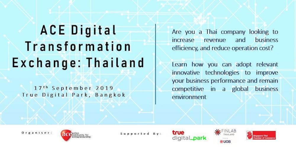 ACE Digital Transformation Exchange: Thailand Tickets, Tue