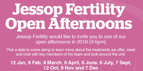 Jessop Fertility - October open afternoon tickets