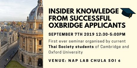 Insider Knowledge From Successful Oxbridge Applicants tickets