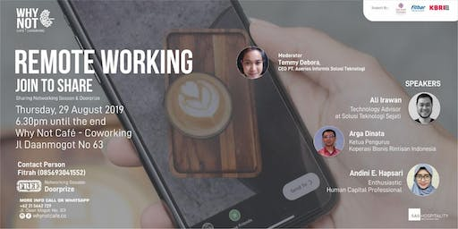 """Sharing Session """"Remote Working"""""""