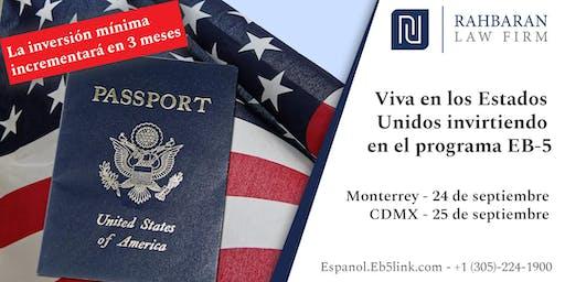 Viva en los Estados Unidos invirtiendo en el programa EB-5 - CDMX - 9/25