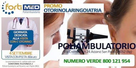 VISITA COMPLETA CON L'OTORINO - PROMO 2019 biglietti