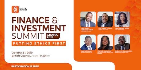 Ghana Finance & Investment Summit 2019 tickets