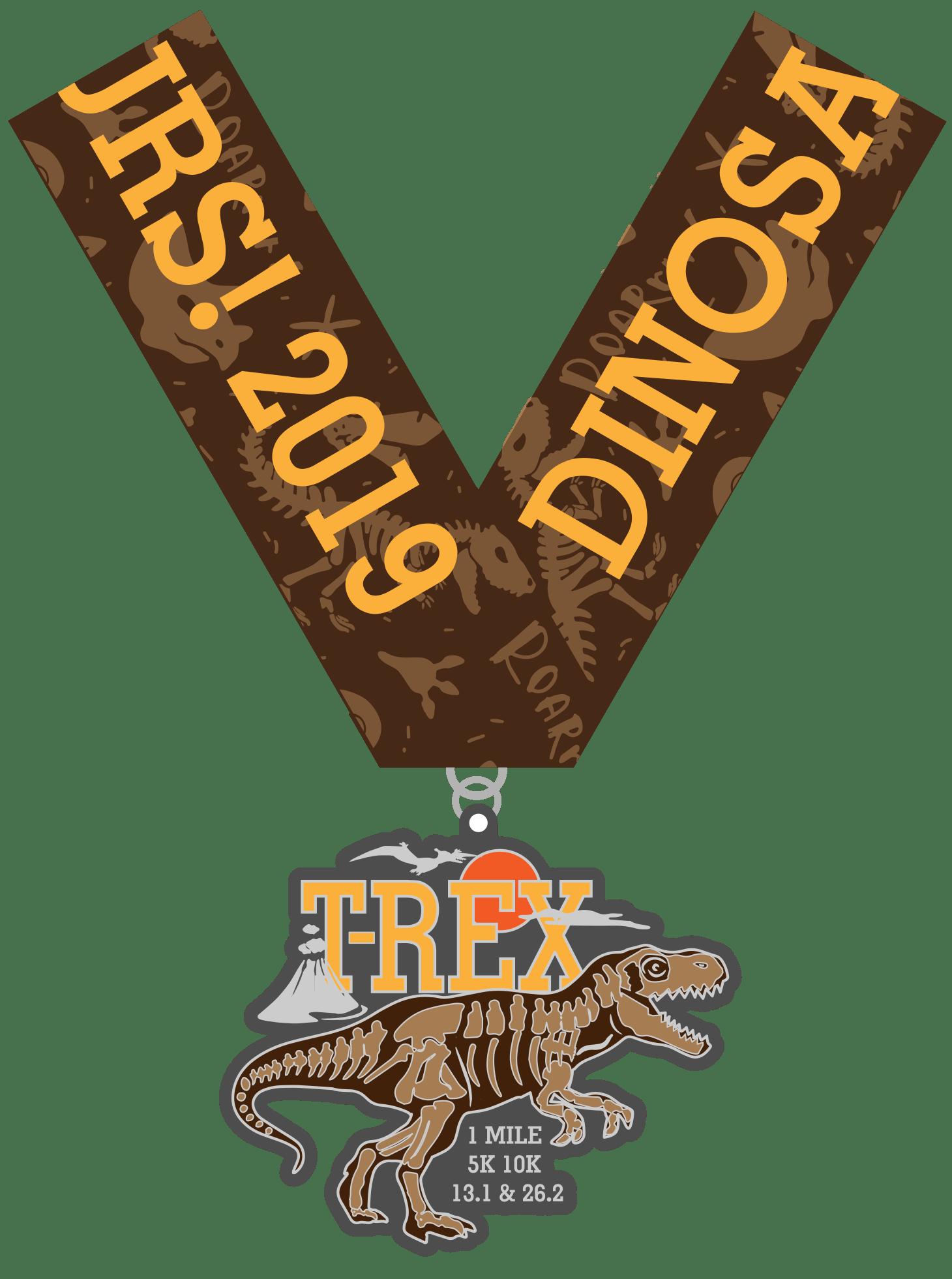 2019 Dinosaur! T-Rex 1M, 5K, 10K, 13.1, 26.2- Phoenix