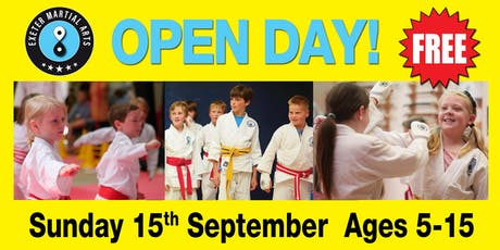 Exeter Martial Arts Open Day Sunday 15th September tickets