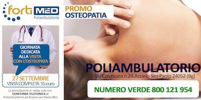 VISITA COMPLETA CON l'OSTEOPATA - PROMO 2019