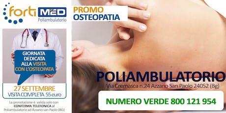 VISITA COMPLETA CON l'OSTEOPATA - PROMO 2019 biglietti