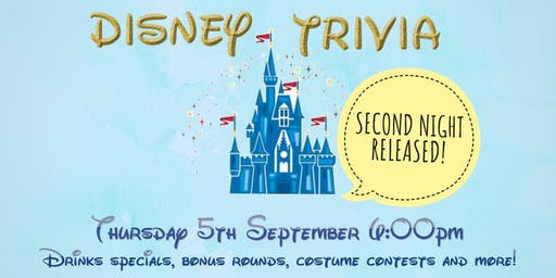DISNEY TRIVIA @ Guild - Thursday 5th September