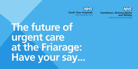 Event #2 - Stokesley 25.09.19 - Friarage Consultation 18:15-20:15 tickets