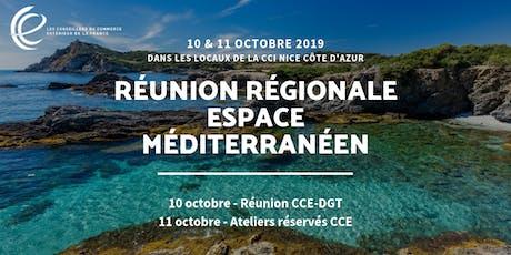 Réunion régionale Espace méditerranéen billets