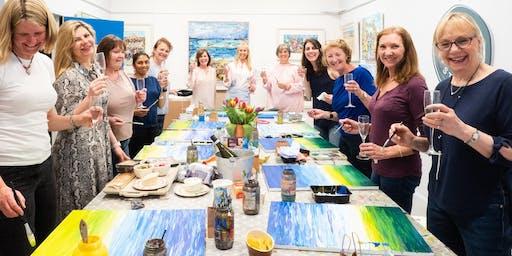 Paint & Sip Evening with  Grainne Roche @ Papercourt Studio, Woking, Surrey