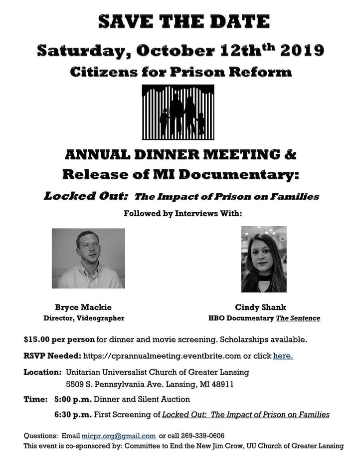 Citizens for Prison Reform Annual Dinner Meeting and MI