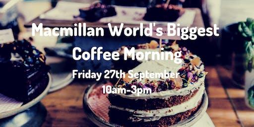 Macmillan World's Biggest Coffee Morning at Hope Street Xchange