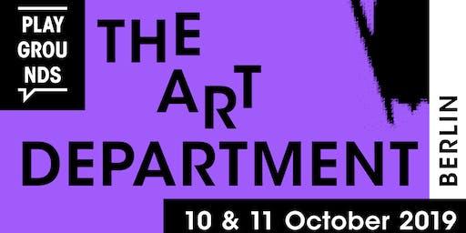 Playgrounds The Art Department 2019 (Berlin)