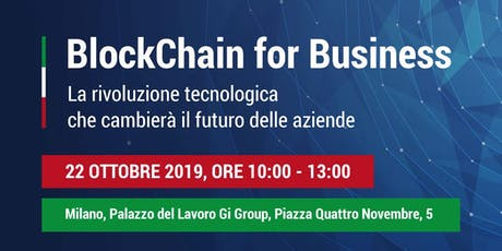 Blockchain for Business biglietti