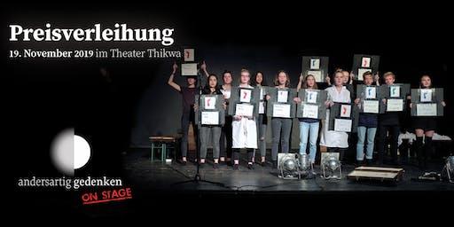 Preisverleihung andersartig gedenken on stage 2019