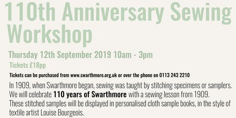 110th Anniversary Sewing Workshop tickets