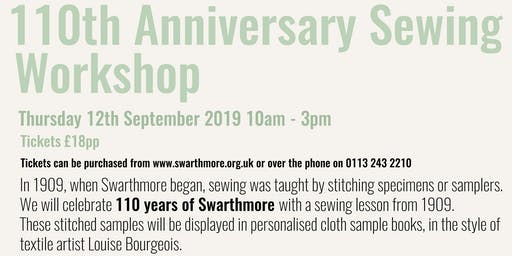 110th Anniversary Sewing Workshop