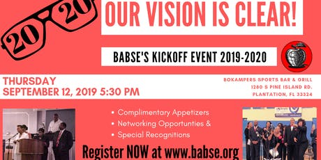"""BABSE 2020 """"Our Vision is Clear"""" Kick Off Celebration tickets"""