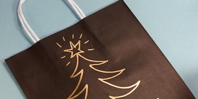 DECORATIVE GIFT BAGS WITH CALLIGRAPHY