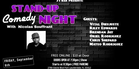 Comedy Night with Nicolas Souffrant at J's Bar tickets