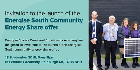 Launch of Energise South Community Energy Share Offer tickets