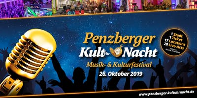 Penzberger KultUHRnacht 2019 mit 17 Locations und 20 Live-Acts