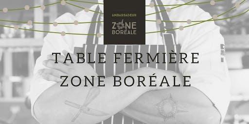 Table fermière Zone boréale