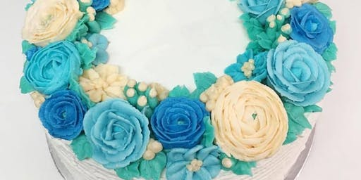 Cake Decorating: Floral Fall Wreath Cake at Fran's Cake and Candy Supplies