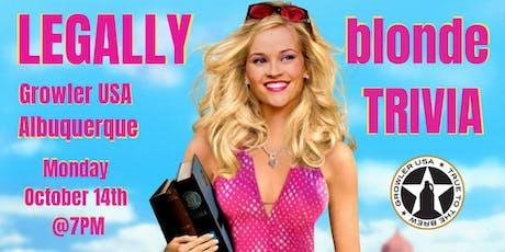 Legally Blonde Trivia at Growler USA Albuquerque tickets