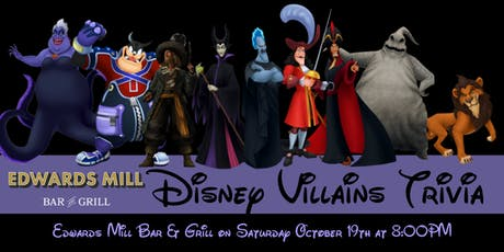 Disney Villains Trivia at Edwards Mill tickets