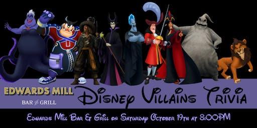 Disney Villains Trivia at Edwards Mill