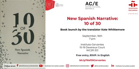 New Spanish Narrative: 10 of 30 tickets