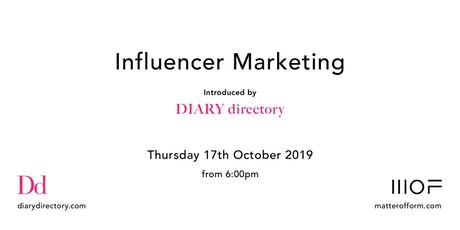 Influencer Marketing Event hosted by DIARY directory tickets