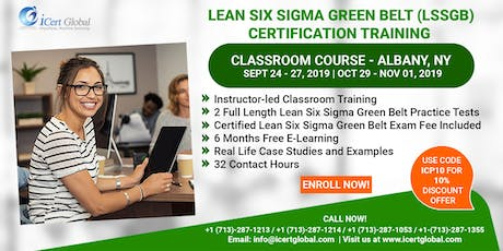 Lean Six Sigma Green Belt (LSSGB) Certification Training Course in Albany,NY, USA. tickets