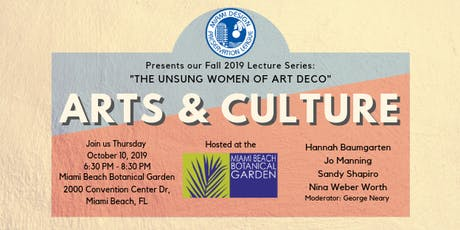 Unsung Women of Art Deco, Part 2: Arts & Culture tickets