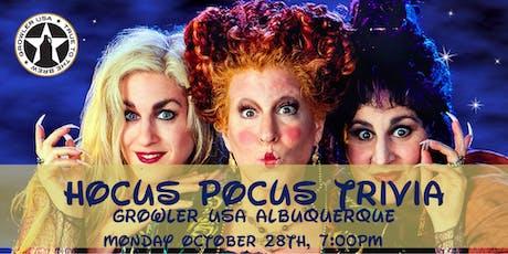 Hocus Pocus Trivia at Growler USA Albuquerque tickets