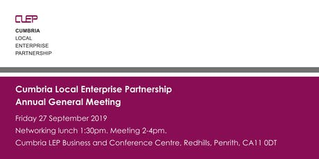 Cumbria Local Enterprise Partnership Annual General Meeting tickets