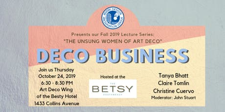 Unsung Women of Art Deco, Part 3: Deco Business tickets