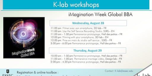 Les ateliers du K-lab - Filmer avec son smartphone - iMagination Week Global BBA