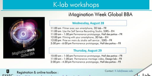 Les ateliers du K-lab - Filming with your smartphone - iMagination Week Global BBA