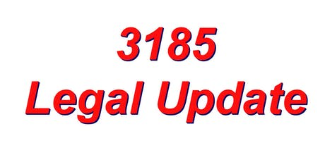 3185 Legal Update tickets