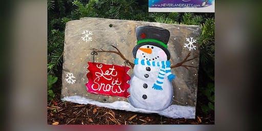 Snowman! Aberdeen, Greene Turtle with Artist Katie Detrich!