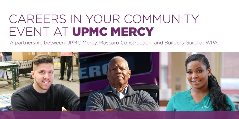 Careers in Your Community at UPMC Mercy Registration, Fri